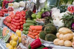 Grocery Vegetables. Produce from in a Mexico City food market Royalty Free Stock Images