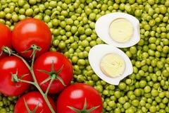 grochów pomidory Obrazy Royalty Free