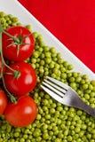 grochów pomidory Obrazy Stock