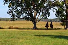 Grochowej grani Krajowy wojskowy Parkuje pole bitwy Zdjęcia Royalty Free