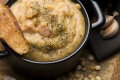 Grochowka - Polish Pea Soup Royalty Free Stock Photography