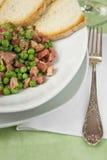 grochu zielony talerz fotografia stock