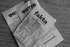 GROCRY RECEIPTS Stock Images
