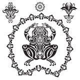Groda i dekorativ stil Arkivbilder