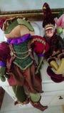 Groda och apa arkivfoto