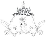 Grodaprins Cartoon Character Royaltyfria Bilder