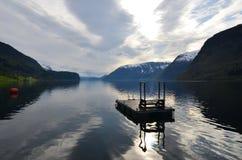 Grodas głęboki jezioro w Norwegia, w Europa obraz stock