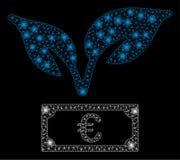 Grodd för start för euro för signalljusingrepp 2D med signalljusfläckar stock illustrationer