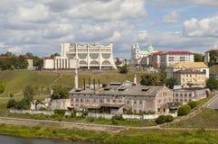 GRODNO, БЕЛАРУСЬ - 10-ОЕ ИЮЛЯ 2016: Фото исторического центра Стоковая Фотография RF