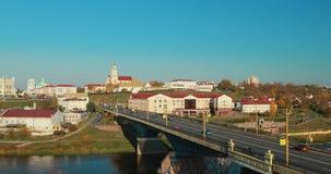 Grodno, Belarus. Grodno Regional Drama Theater And Catholic Church Of Discovery Of Holy Cross And Bernardine Monastery