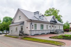 The house where Eliza Orzeszkowa lived. Grodno, Belarus - May 17, 2019: The house where Eliza Orzeszkowa lived royalty free stock photography