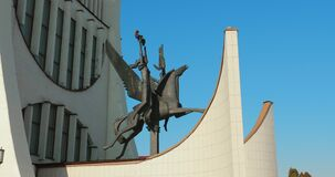 Grodno, Belarus. Grodno Regional Drama Theater In Sunny Autumn Day. Set, Bunch.