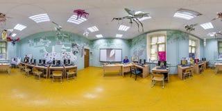 GRODNO, BIELORRÚSSIA - EM JUNHO DE 2019: panorama esférico sem emenda completo do hdri 360 graus de opinião de ângulo na classe i foto de stock