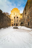 Grodno castle courtyard. In winter - Poland Stock Photos