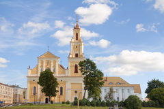 Grodno Church of the Finding of the Holy Cross formerly Bernard Royalty Free Stock Images