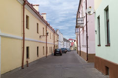 Grodno - het oude centrum van het gebied in Belorus Stock Fotografie