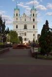 Grodno - het oude centrum van het gebied in Belorus Royalty-vrije Stock Afbeelding