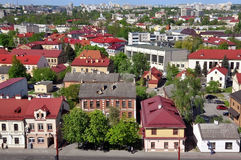Grodno panorama. GRODNO, BELARUS - MAY 5, 2015: Grodno panorama. Red roofs of old city. Belarus on May, 2015 Stock Photos