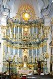 GRODNO VITRYSSLAND - SEPTEMBER 02, 2012: Inre med det altaret Royaltyfri Fotografi