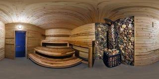 GRODNO, WEISSRUSSLAND - 6. JUNI 2015: Volle kugelförmige 360 durch 180 Grad nahtlose Panorama in der equirectangular äquidistante lizenzfreie stockbilder