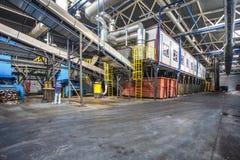GRODNO, WEISSRUSSLAND - MAI 2018: Verarbeitungsanlage der modernen Abfallaufbereitung Unterschiedliche Speicherbereinigung Wieder stockbild
