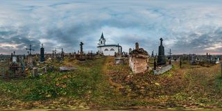 GRODNO, WEISSRUSSLAND - NOVEMBER 2018: volles nahtloses Panorama 360 Grad angeln in der equirectangular kugelförmigen Würfelproje lizenzfreie stockfotografie