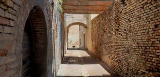 Grodowa ściana i wierza zdjęcie stock