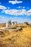grodowa Cervantes Consuegra wykładowcy opłata sławna swój publikujący donkiszot s wiatraczkami był Hiszpania obrazy royalty free