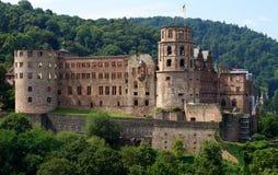 grodowa mgłowa Heidelberg ranek obserwacja nad obrazka punktem obraz stock