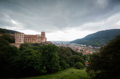 grodowa mgłowa Heidelberg ranek obserwacja nad obrazka punktem Fotografia Royalty Free