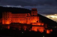 grodowa mgłowa Heidelberg ranek obserwacja nad obrazka punktem Zdjęcia Royalty Free