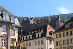 grodowa mgłowa Heidelberg ranek obserwacja nad obrazka punktem Zdjęcie Stock
