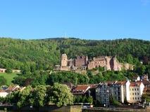 grodowa mgłowa Heidelberg ranek obserwacja nad obrazka punktem Obraz Royalty Free