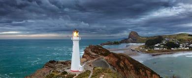Grodowa punkt latarnia morska Zdjęcie Stock