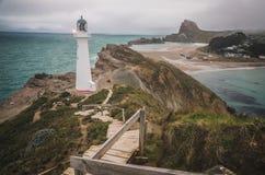Grodowa punkt latarnia morska, Nowa Zelandia Obraz Stock