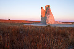 Grodowa Rockowa wschód słońca łuna Obraz Stock