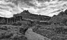 Grodowa skała BW i Błotnisty Fremont Fotografia Stock