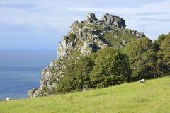 grodowa skała kołysa dolinę Obraz Royalty Free