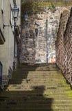 Grodowa Wynd północ w Edynburg zdjęcie royalty free
