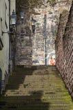Grodowa Wynd północ w Edynburg obrazy stock