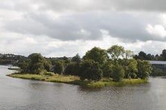 Grodowa wyspa, Enniskillen Co Fermanagh, Północny - Ireland obraz stock