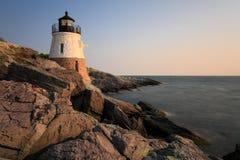 Grodowa wzgórze latarnia morska Newport RI Obrazy Royalty Free