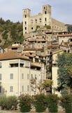 grodowe dolceacqua Liguria ruiny Zdjęcia Stock