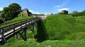 Grodowego akra kasztelu średniowieczni defences zdjęcie royalty free