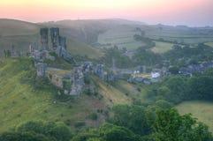 grodowego fantazi krajobrazu magiczne romantyczne ruiny Zdjęcia Royalty Free