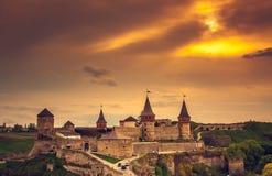 grodowego kamianets starego podilskyi grodzki Ukraine widok Obraz Royalty Free