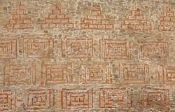 grodowego ornamentu kamienna ściana Fotografia Royalty Free