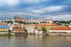 grodowej Europe starej fotografii Prague rzeczny podróży vltava Fotografia Royalty Free