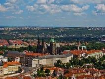 grodowej Europe starej fotografii Prague rzeczny podróży vltava Obrazy Royalty Free