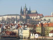 grodowej Europe starej fotografii Prague rzeczny podróży vltava Fotografia Stock